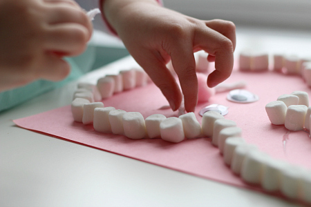 fine motor marshmallow easter craft