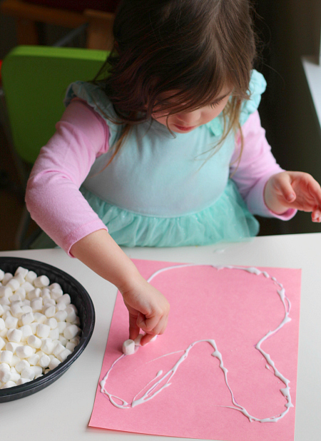 Next Start Adding The Marshmallows Marshmallow Easter Bunny Craft For Preschool