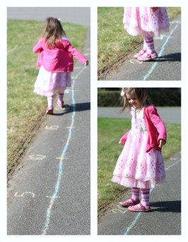 Outdoor Number Line Activity