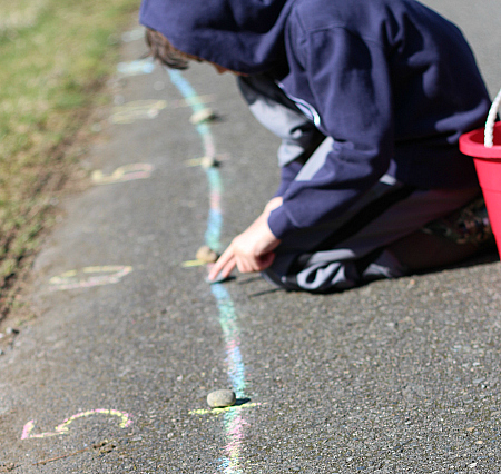 number line math activity for children