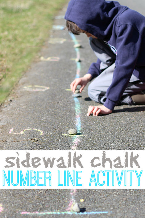 outdoor active math game