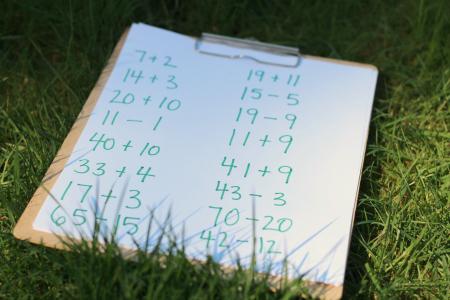 number line numbers