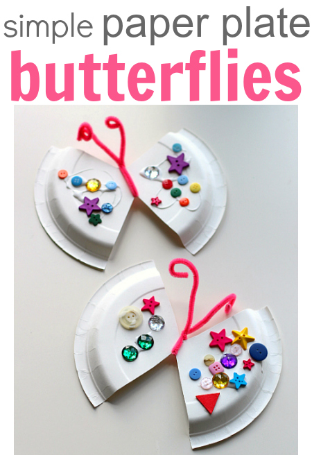 simple paper plate butterflies