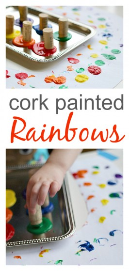 Cork Painted Rainbow Craft