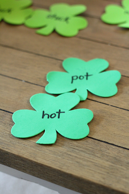 rhyming activity gross motor st. patrick's day