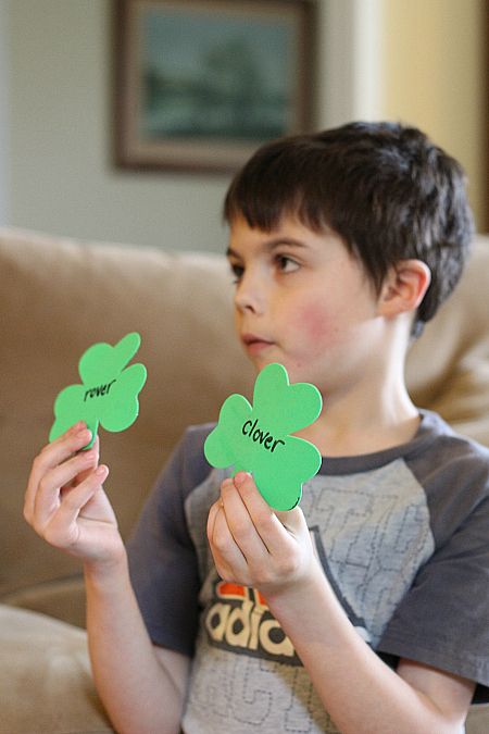 rhyming game for st.patrick's day