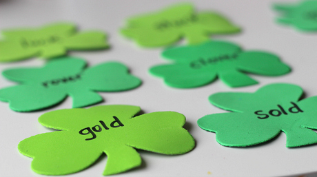 rhyming treasure hunt for st.patrick's day