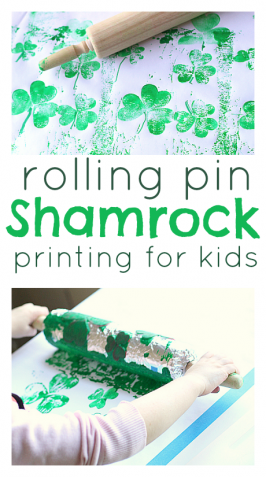 Rolling Pin Shamrock Prints
