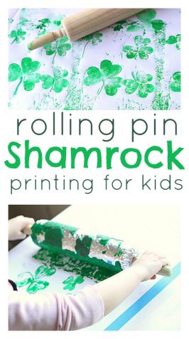 Rolling Pin Shamrock Prints