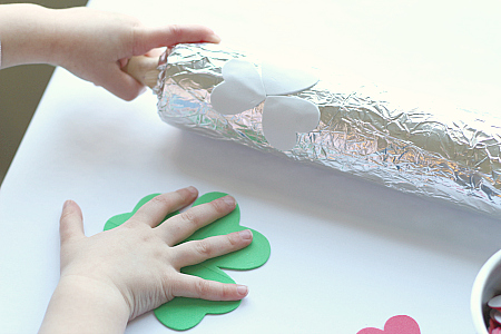 shamrock print craft for kids