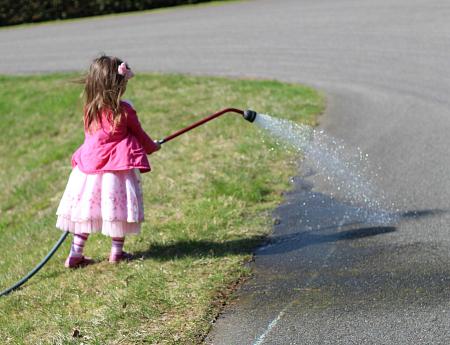 side walk chalk activity number line