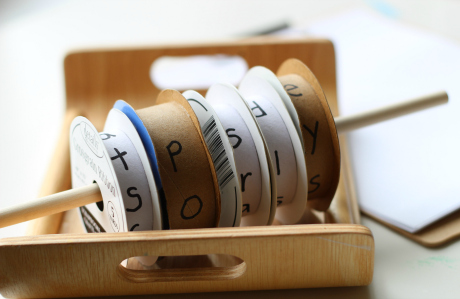 spool spelling activity for kindergarten