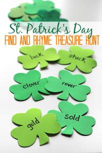 st.patrick's day rhyming treasure hunt