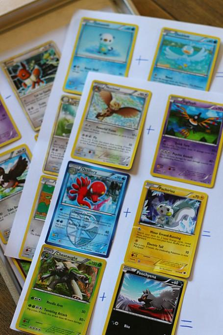 DIY Pokemon math sheets