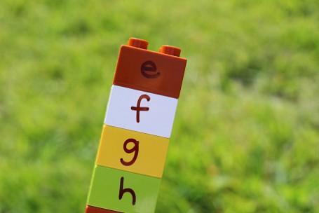 alphabet hunt for kids outside