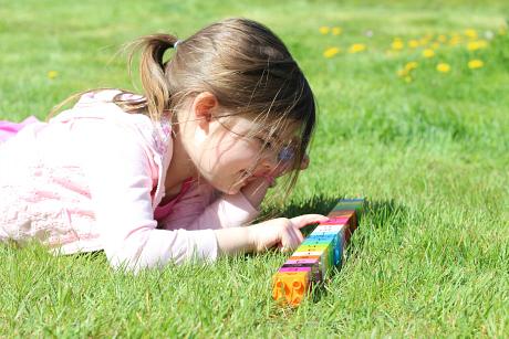 alphabet hunt outside for little kids