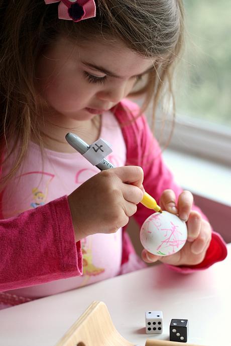 easter egg math game for preschool