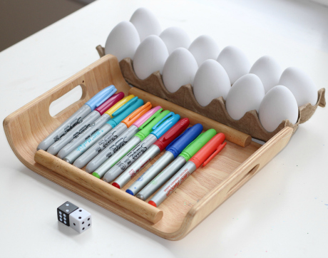 easter egg math game supplies