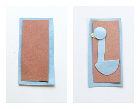 how to make a pigeon bookmark