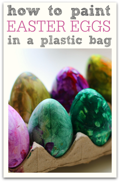 Paint Easter Eggs In A Bag Color Mixing Too No Time