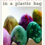 Paint Easter Eggs in A Bag! { Color Mixing Too!}