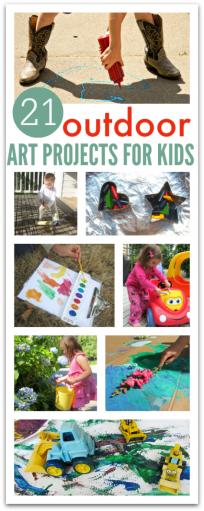 outside art for kids