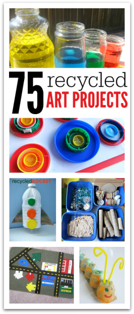 75 Recycled Art Projects For Kids