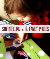 story telling with family photographs