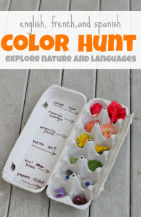 teach kids spanish and french color words