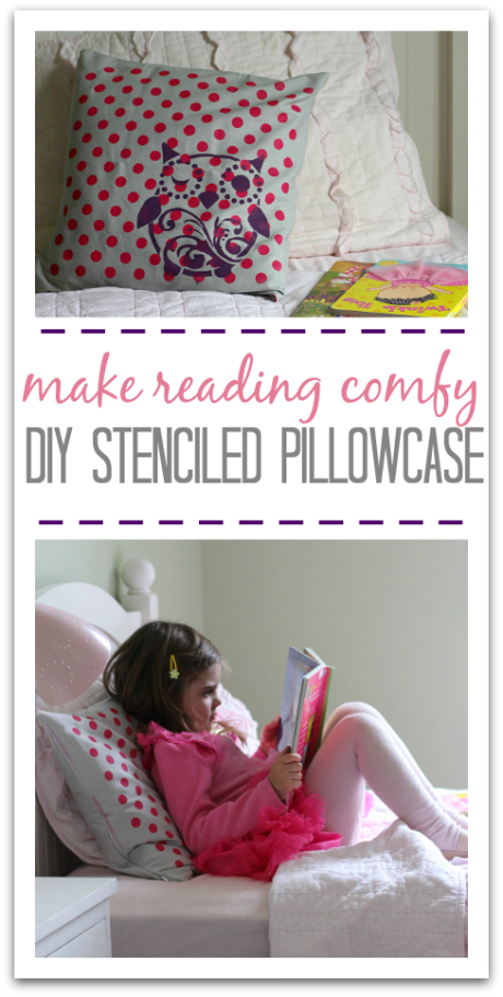 DIY stenciled pillowcase craft