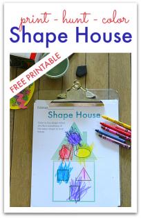 kindergarten shape worksheet