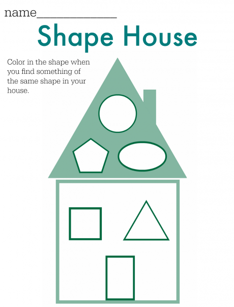 Shape House FREE Printable