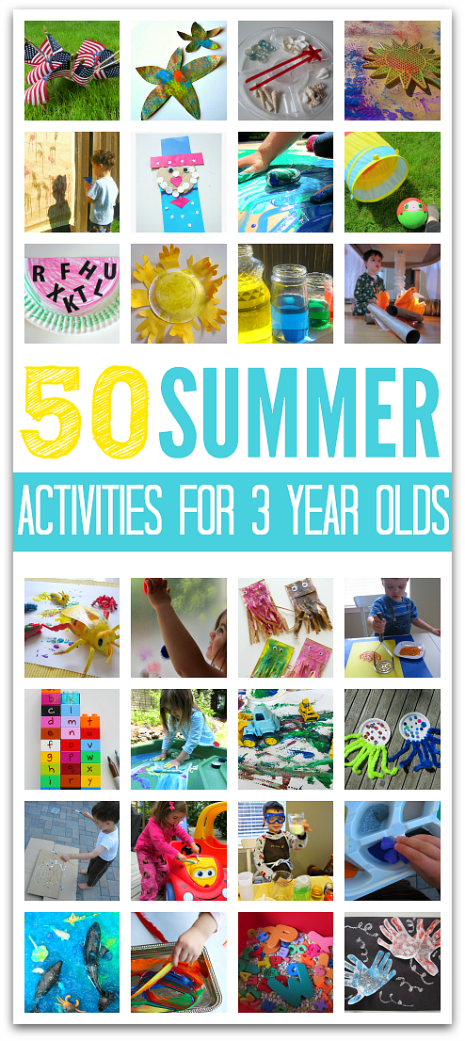 50 Summer Activities For 3 Year olds - No Time For Flash Cards