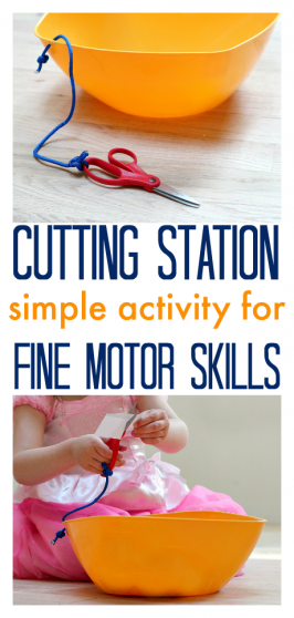 Fine Motor Skills – DIY Cutting Station