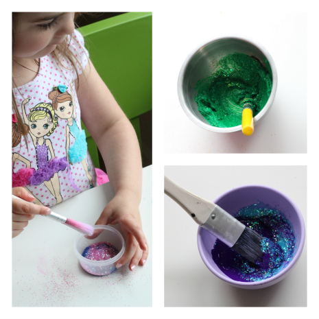glitter paint fish craft for preschool