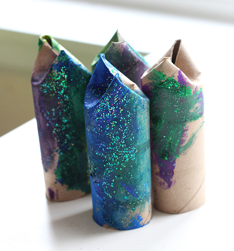 paper roll fish craft