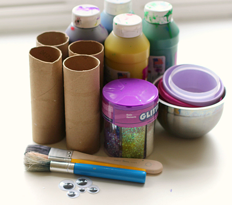 paper tube fish craft