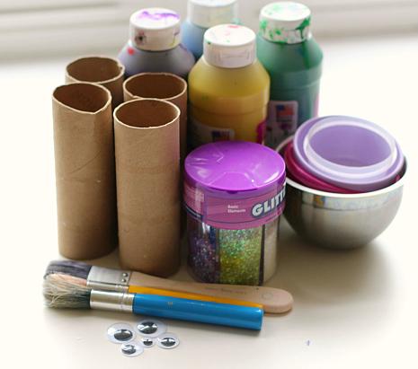 paper tube fish craft
