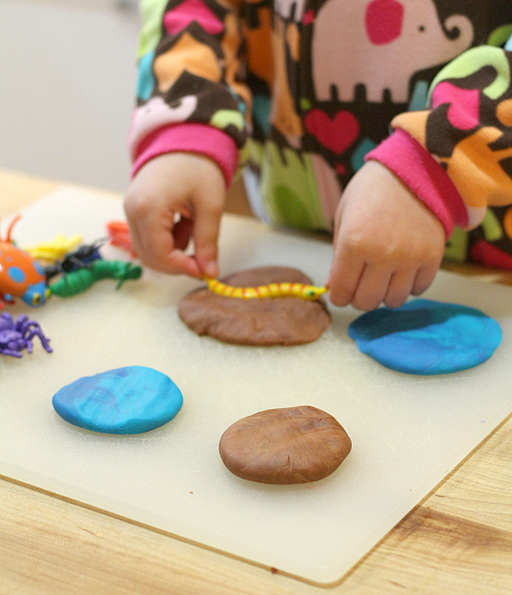 playdough bug printing