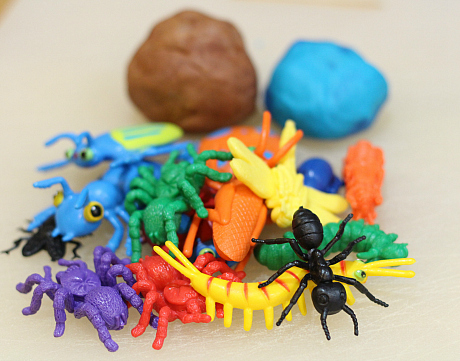 playdough bug prints