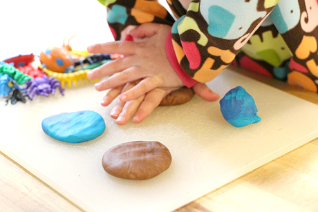 playdough bug prints for preschool