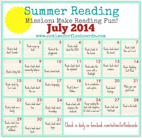 Summer Reading Calendar - FREE Printables - No Time For ...
