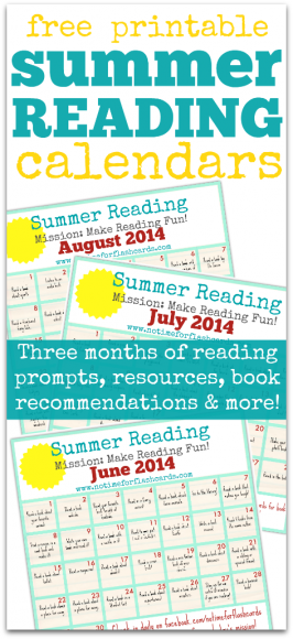 Summer Reading Calendar – FREE Printables