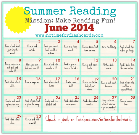 Summer Reading Calendar - FREE Printables - No Time For ...