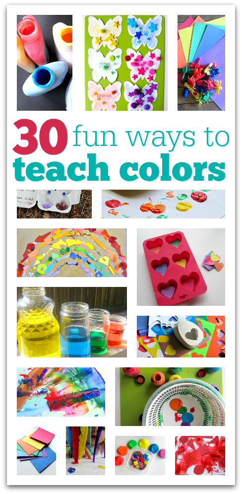 30 Fun Ways To Teach Colors - No Time For Flash Cards