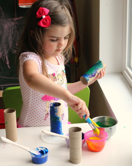 toilet paper roll fish craft for children