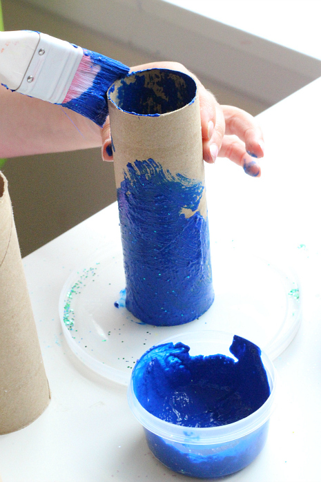 toilet roll fish craft for preschool