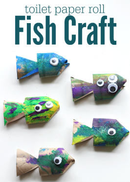 Toilet Paper Roll Fish Craft