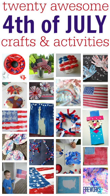 4th of july crafts and activities   no time for flash cards