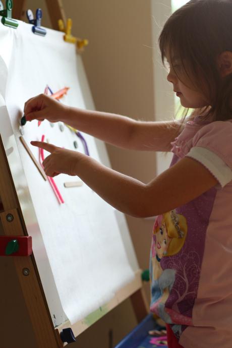 create a face easel activity for preschool